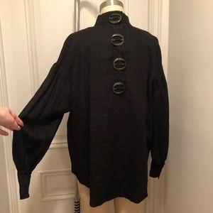 Zara Tops - Unique Zara Linen Puff Sleeve Top M